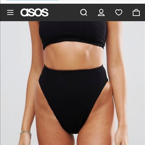 45982d1cbc ASOS Other - ASOS mix match black crinkle bikini OS